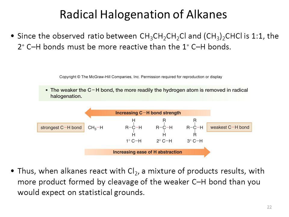 Radical Halogenation of Alkanes