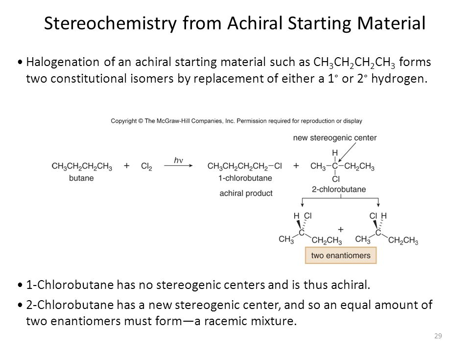 Stereochemistry from Achiral Starting Material
