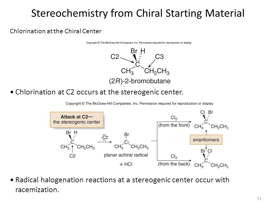 Stereochemistry from Chiral Starting Material