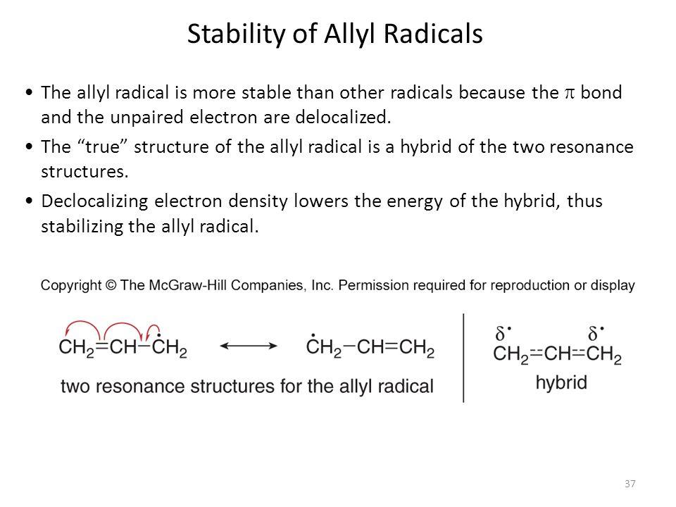 Stability of Allyl Radicals