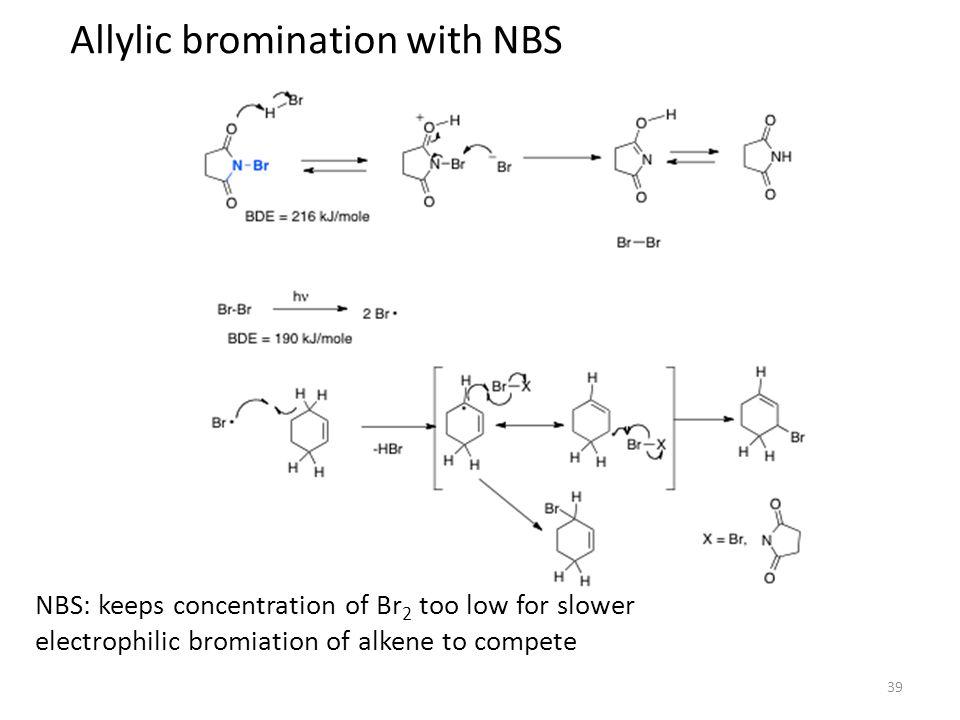 bromination of stilbene The minor dl product in the bromination of (e)-stilbene is a result of resonance in the bromonium bridge intermediate, .