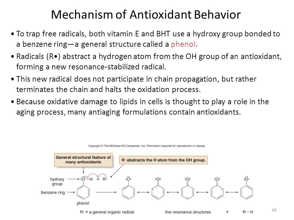 Mechanism of Antioxidant Behavior