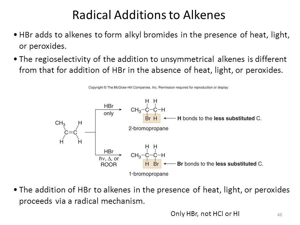 Radical Additions to Alkenes