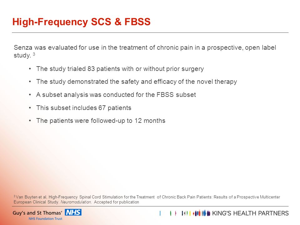 High-Frequency SCS & FBSS