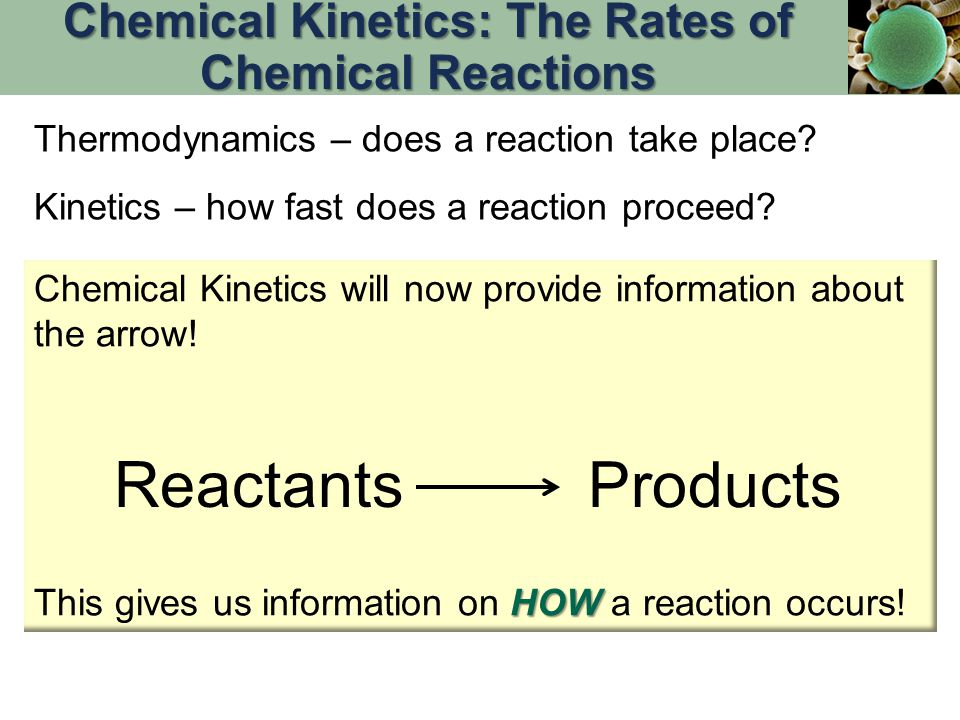Chemical Kinetics: The Rates of Chemical Reactions