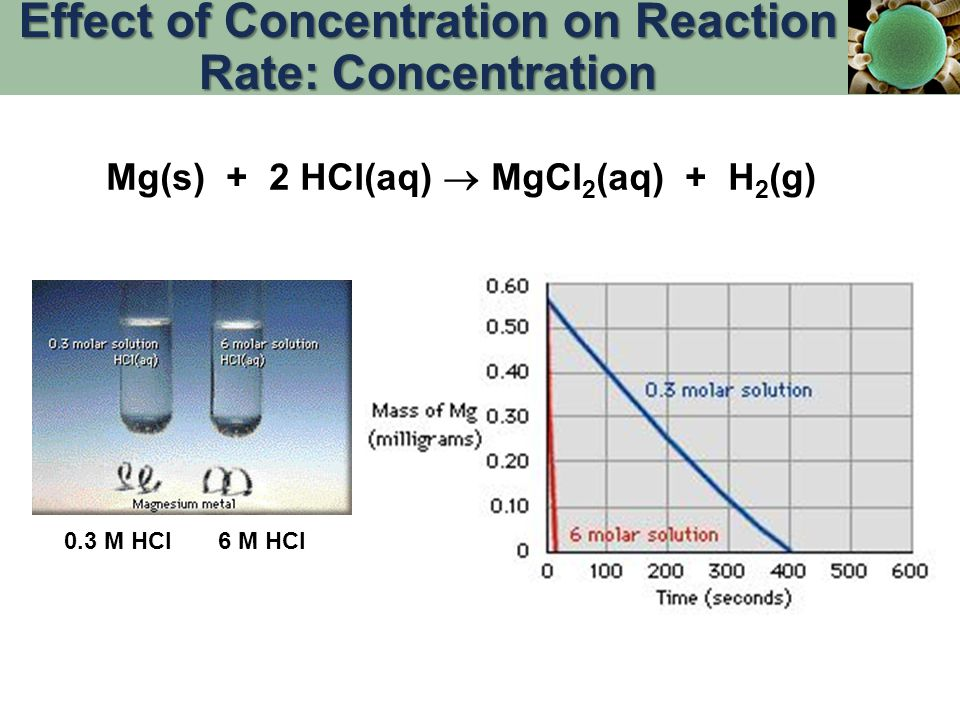Effect of Concentration on Reaction Rate: Concentration