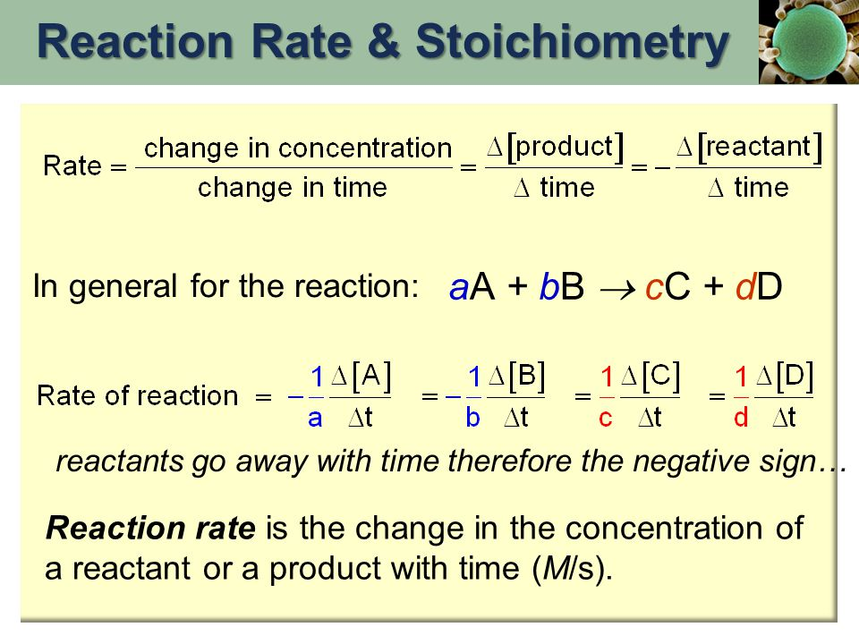 Reaction Rate & Stoichiometry