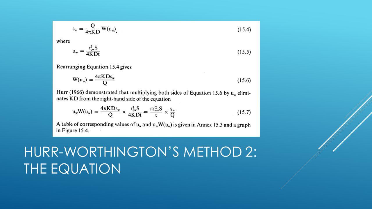 Hurr-Worthington's Method 2: The Equation