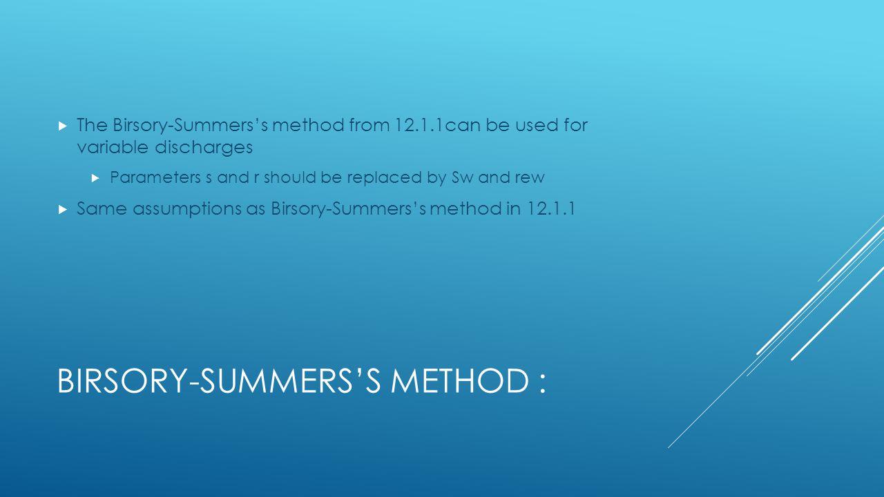 Birsory-Summers's Method :