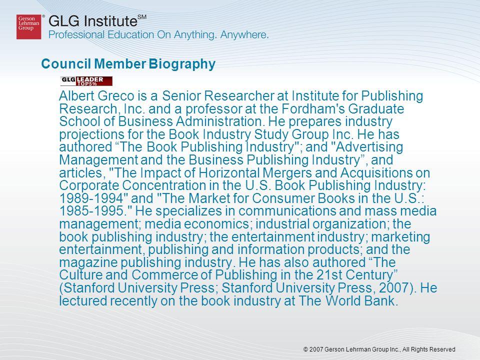 Council Member Biography