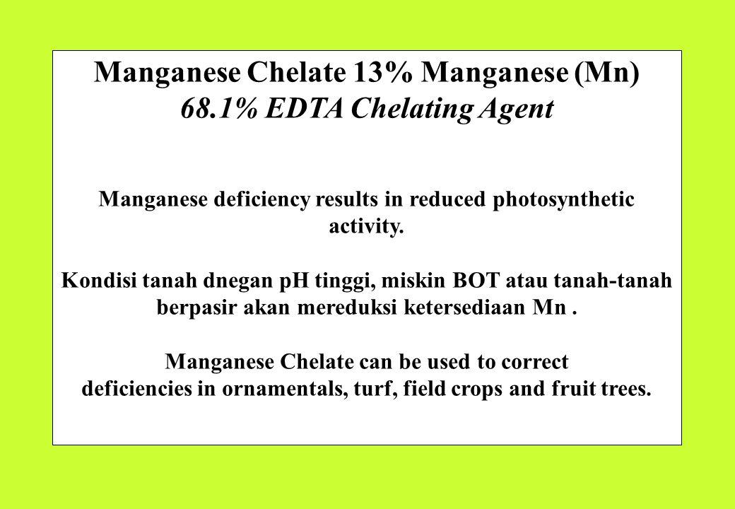 Manganese Chelate 13% Manganese (Mn) 68.1% EDTA Chelating Agent