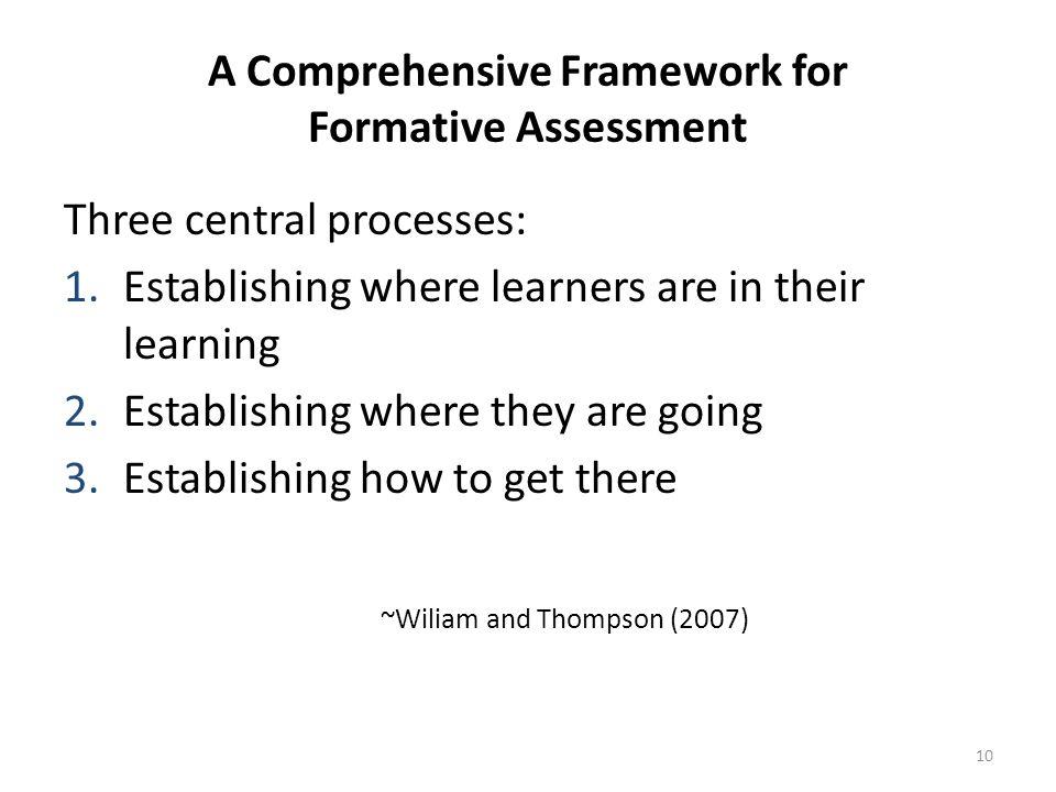 A Comprehensive Framework for Formative Assessment