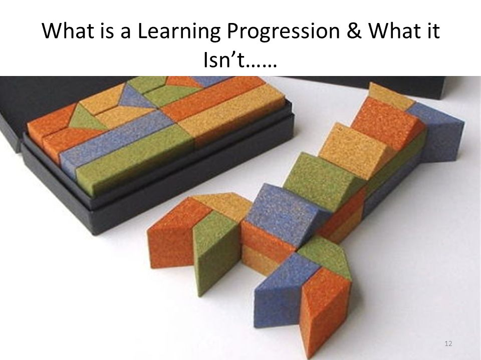 What is a Learning Progression & What it Isn't……
