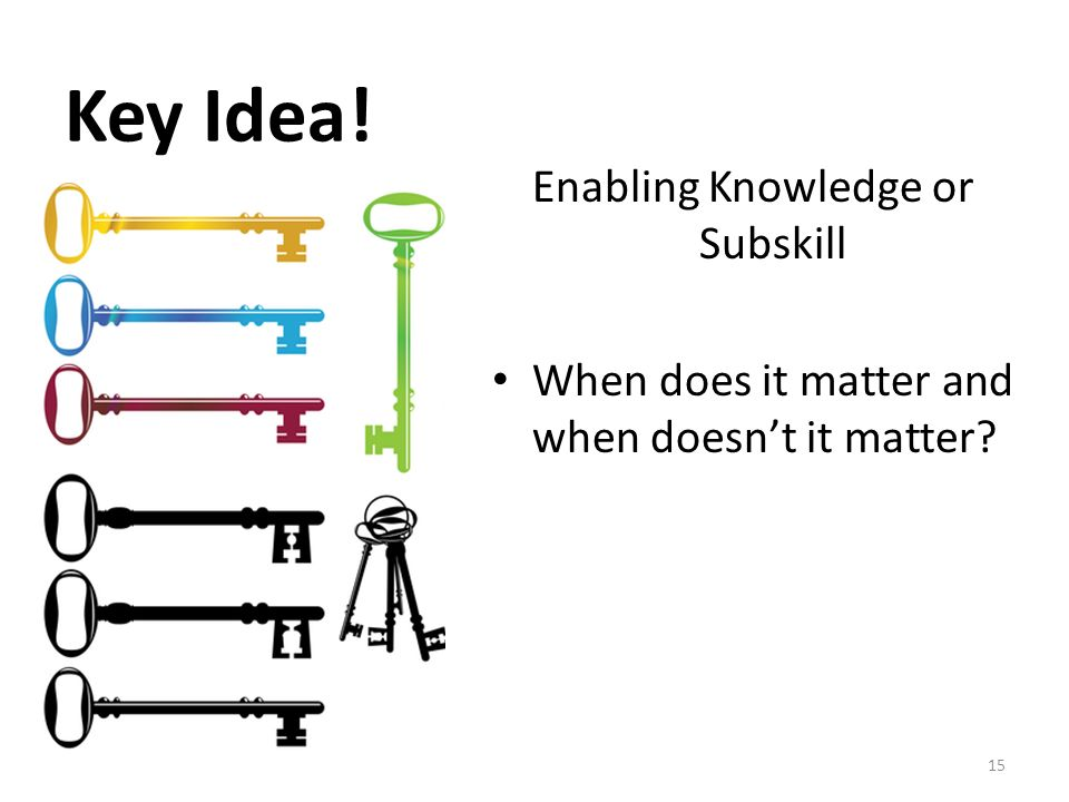 Enabling Knowledge or Subskill