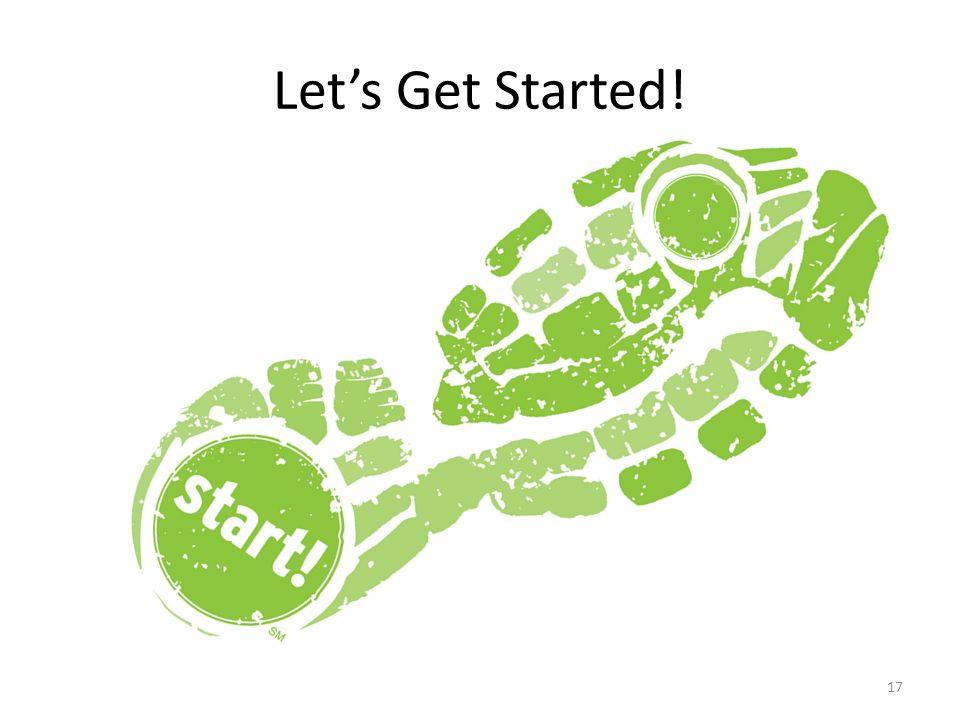 Let's Get Started! Transition slide