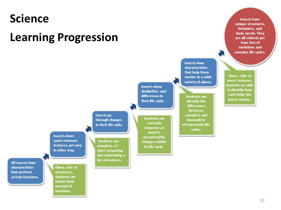 Science Learning Progression