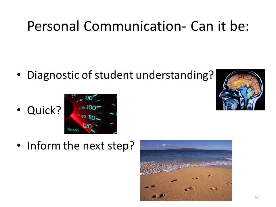 Personal Communication- Can it be:
