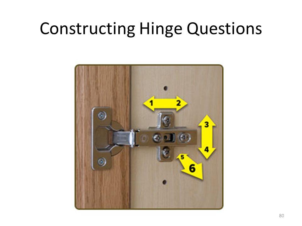 Constructing Hinge Questions