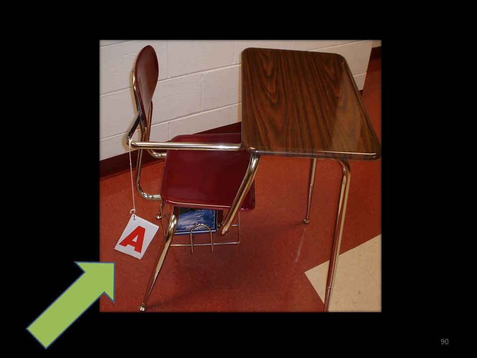 Cool idea. See the little note cards hanging from the desk