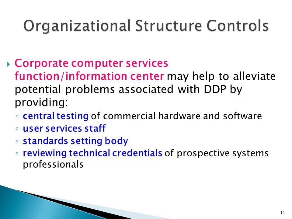 Organizational Structure Controls