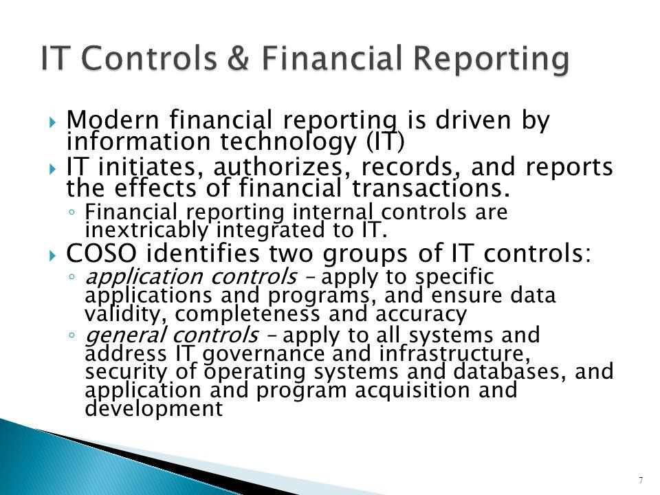 IT Controls & Financial Reporting