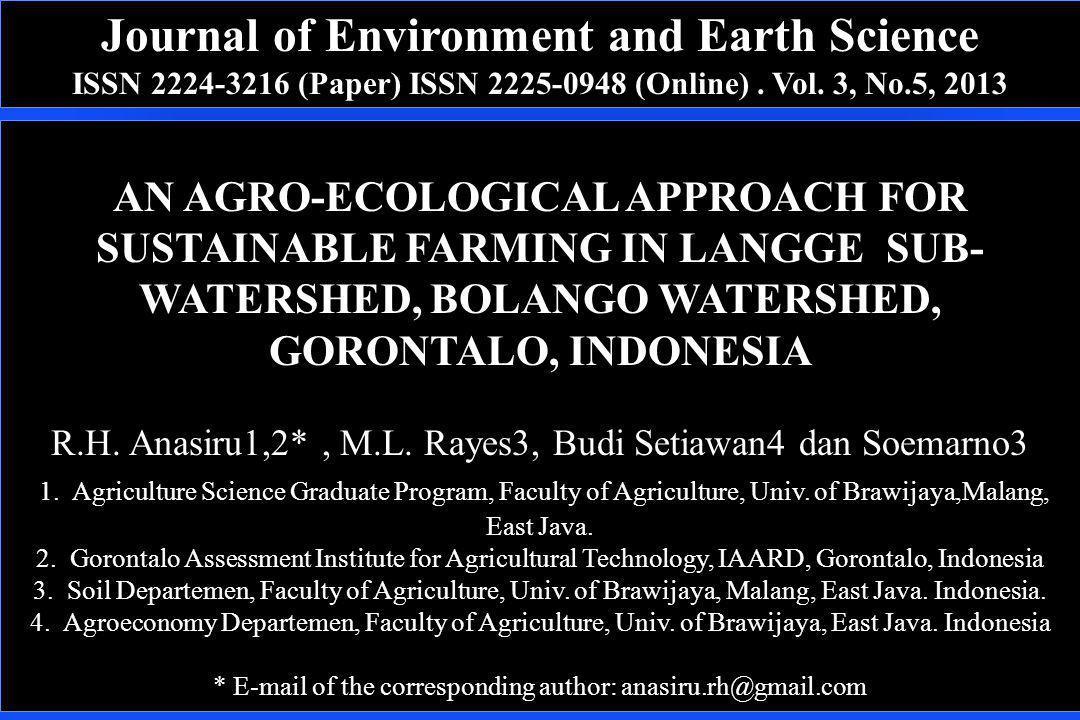 Journal of Environment and Earth Science