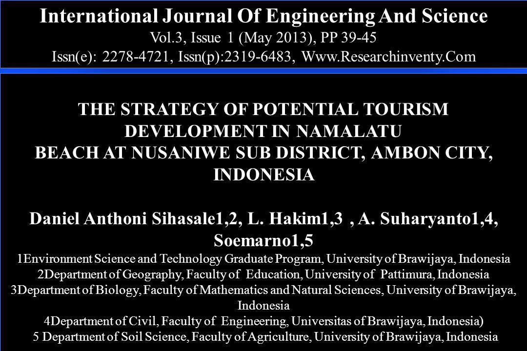 International Journal Of Engineering And Science