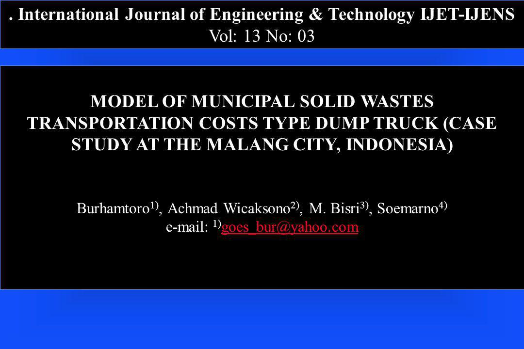 . International Journal of Engineering & Technology IJET-IJENS