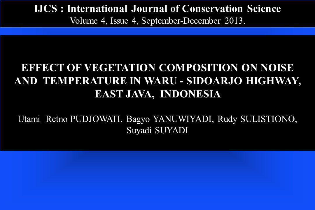 IJCS : International Journal of Conservation Science