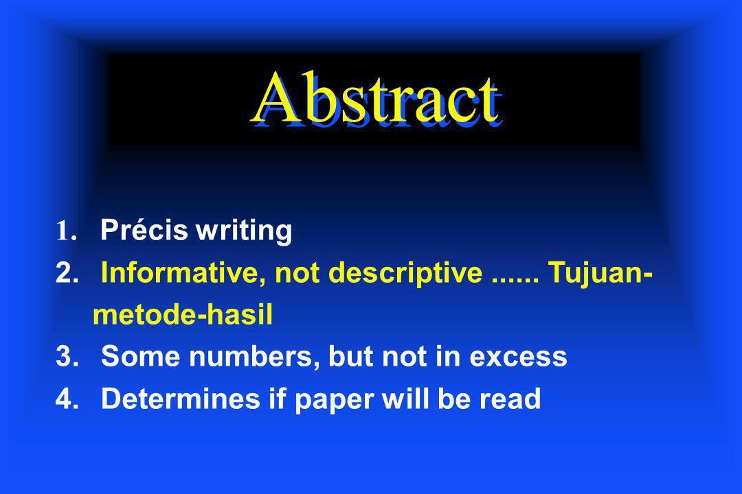 Abstract Précis writing