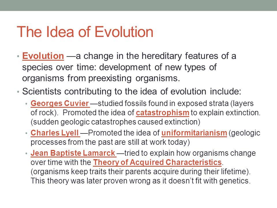 The Idea of Evolution