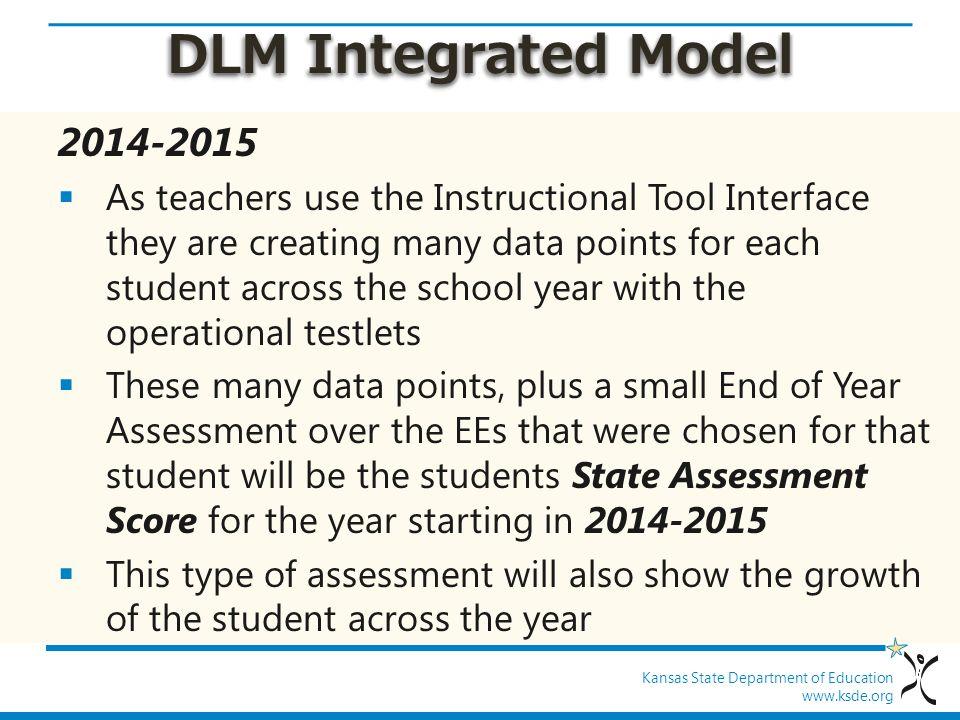 DLM Integrated Model 2014-2015.