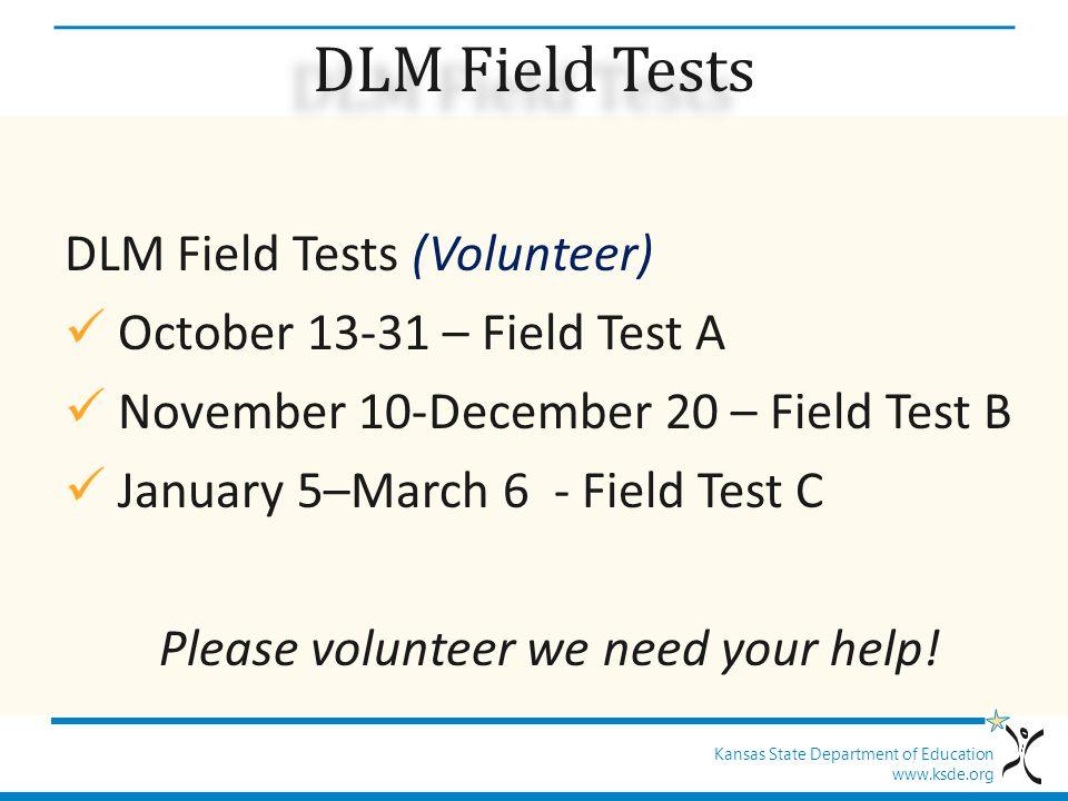 Please volunteer we need your help!