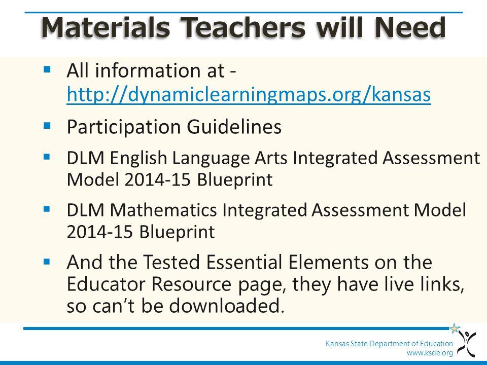 Materials Teachers will Need