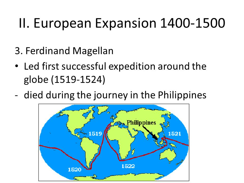 II. European Expansion 1400-1500