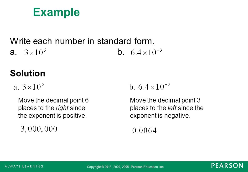 What Does Writing A Number In Standard Form Mean In Fourth Grade