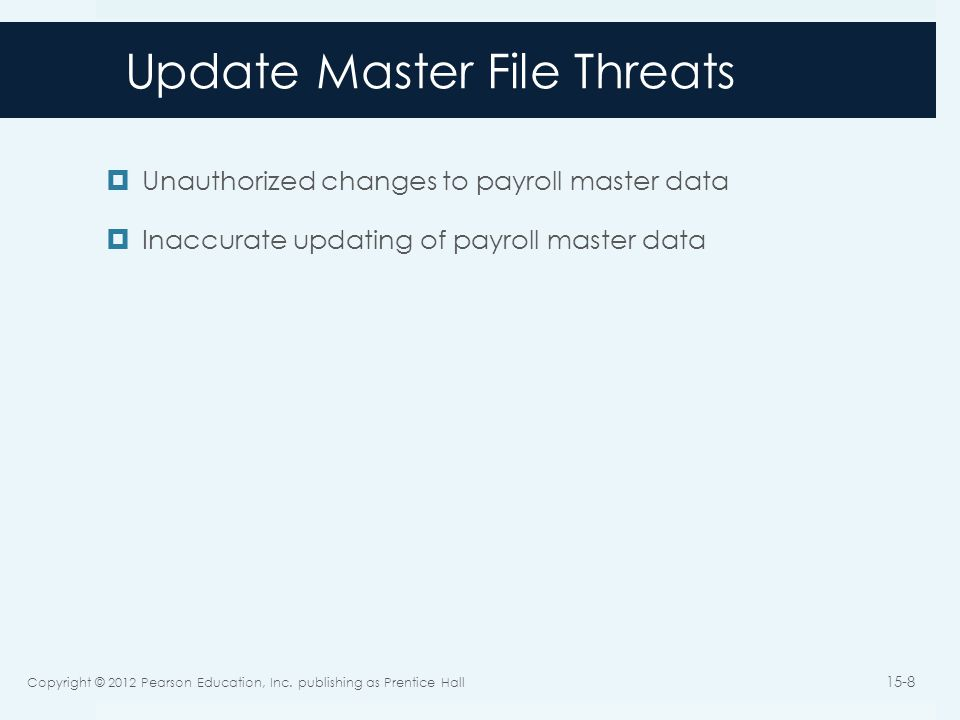 Update Master File Threats