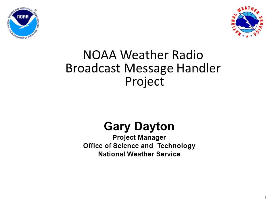 NOAA Weather Radio Broadcast Message Handler