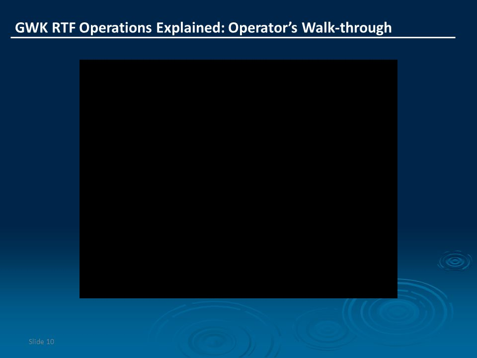 GWK RTF Operations Explained: Operator's Walk-through
