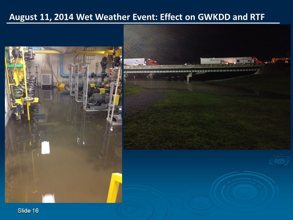 August 11, 2014 Wet Weather Event: Effect on GWKDD and RTF