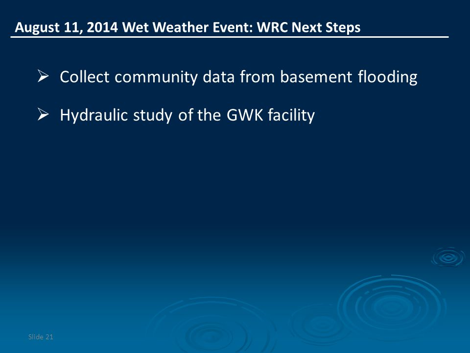Collect community data from basement flooding