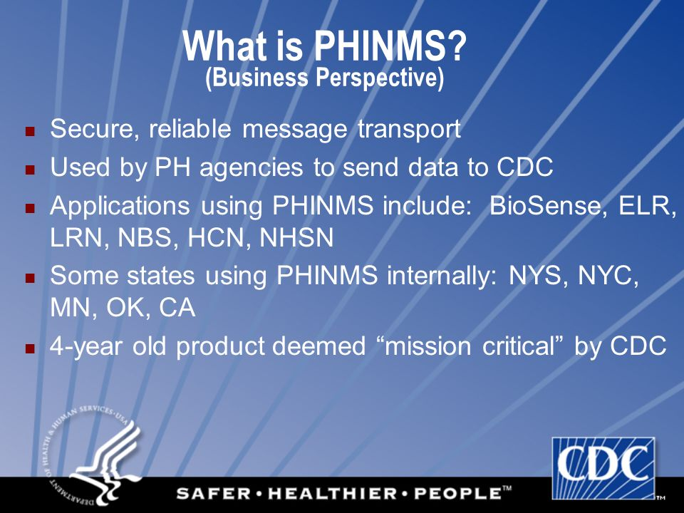 What is PHINMS (Business Perspective)