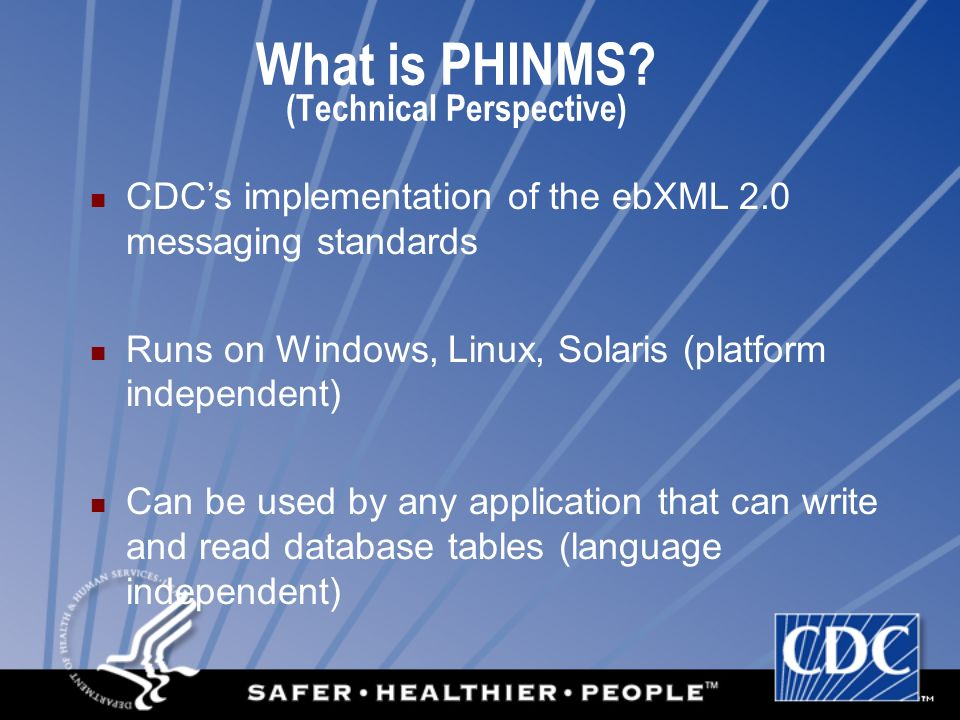 What is PHINMS (Technical Perspective)