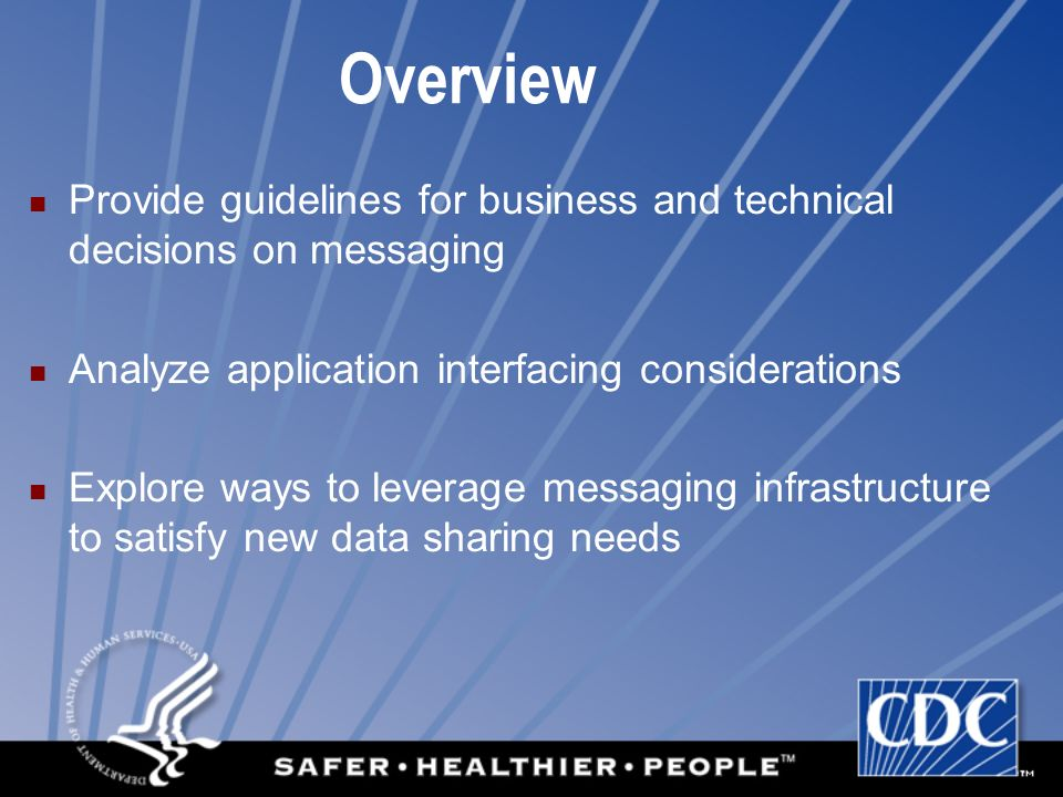 Overview Provide guidelines for business and technical decisions on messaging. Analyze application interfacing considerations.