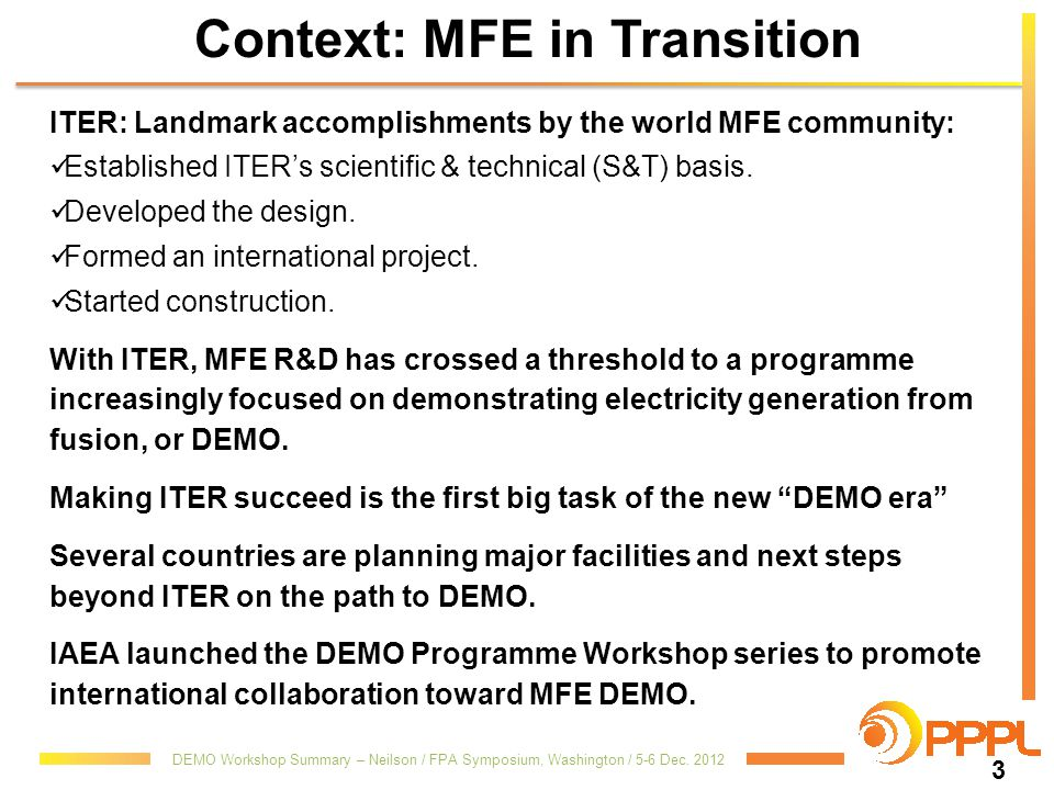 Context: MFE in Transition