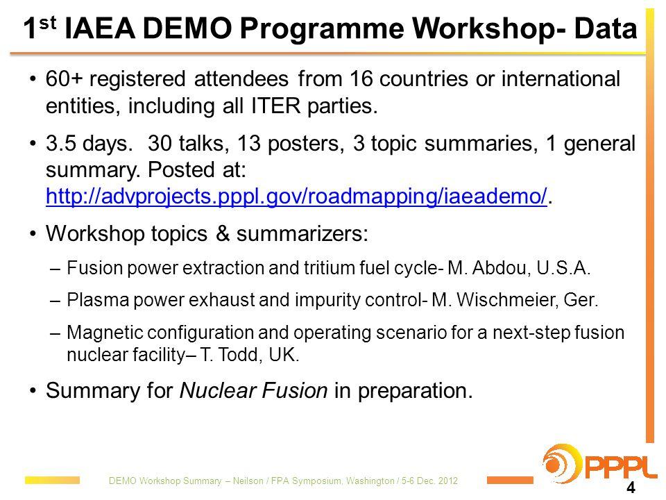 1st IAEA DEMO Programme Workshop- Data