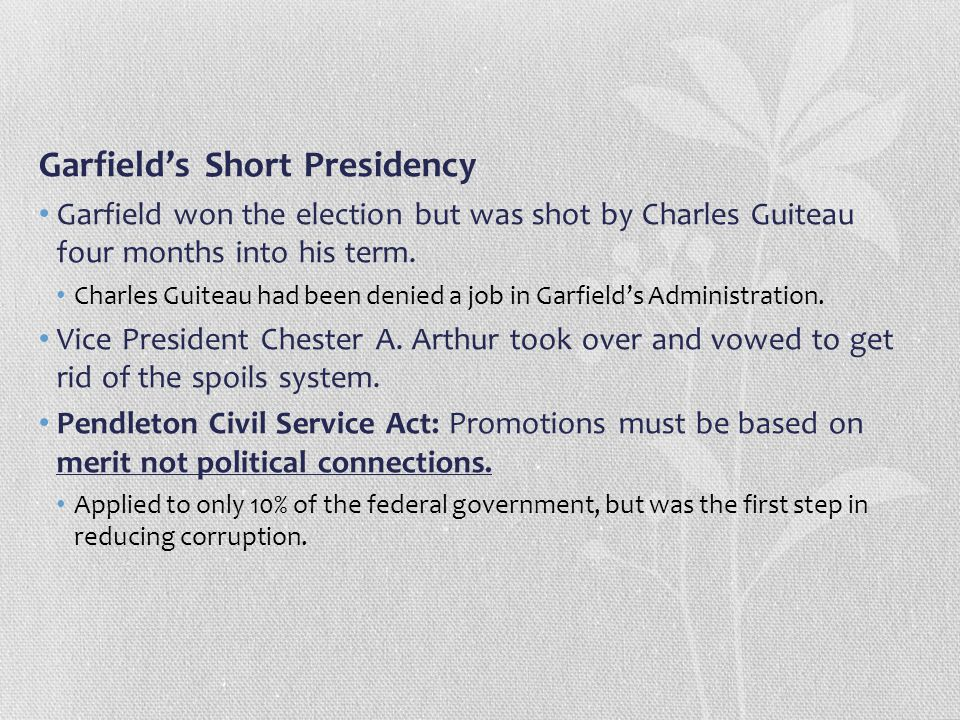 Garfield's Short Presidency