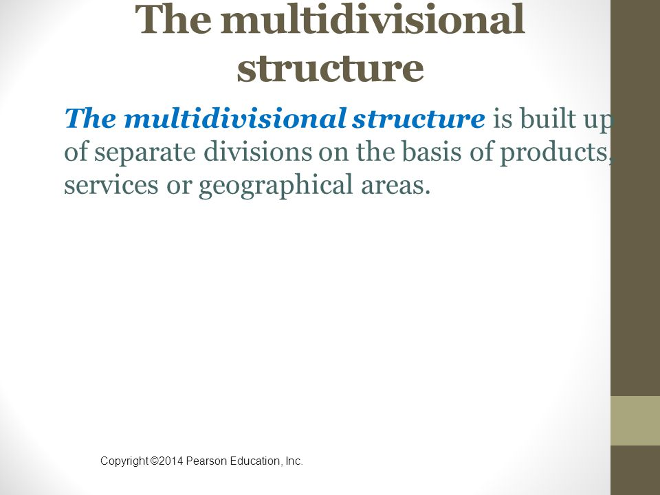 The multidivisional structure