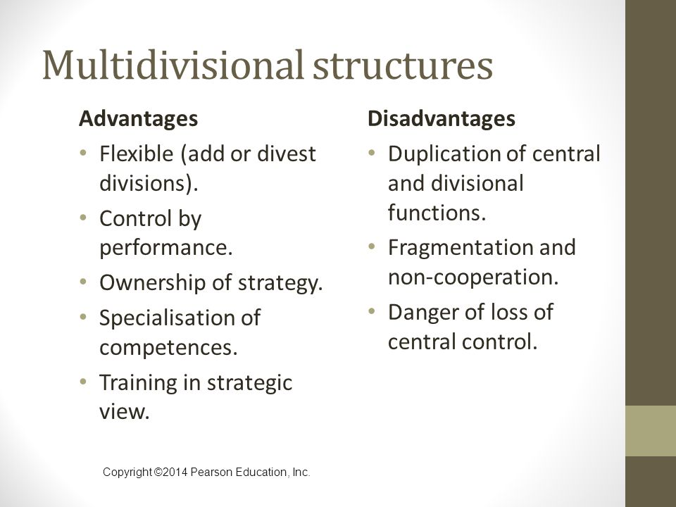 Multidivisional structures