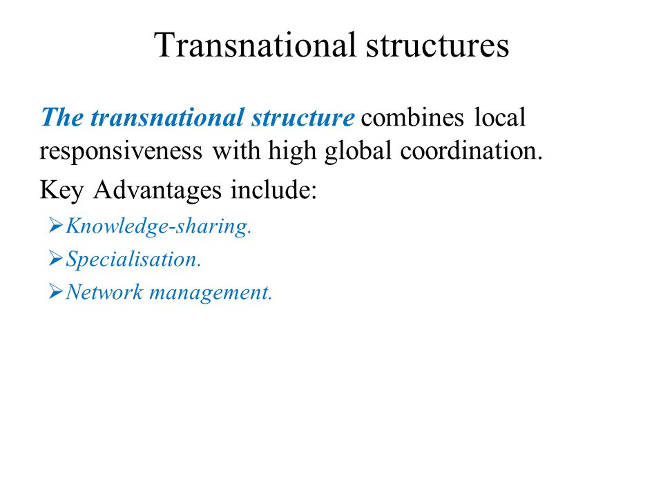 Transnational structures
